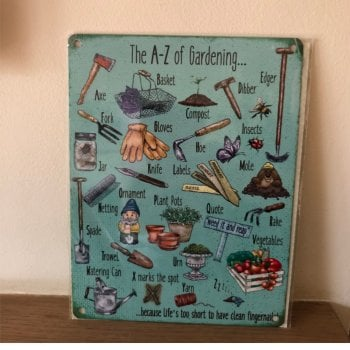 A - Z of Gardening Metal Wall Sign