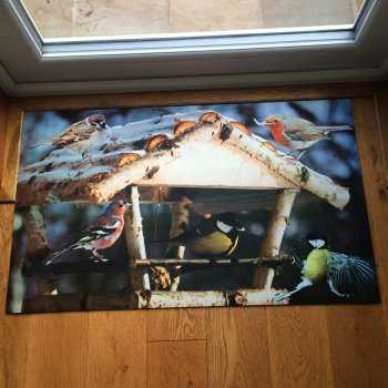 Bird Feeder Printed Doormat