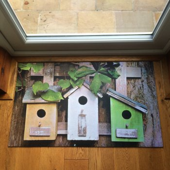 Bird Houses Printed Doormat