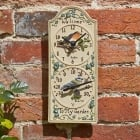 Bird Wall Clock & Thermometer