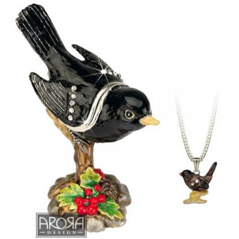 Blackbird Ornament with Hidden Pendant