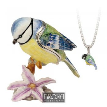 Blue Tit Ornament with Hidden Pendant