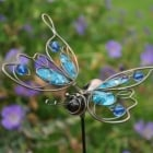 Blue Wire Butterfly Garden Stake