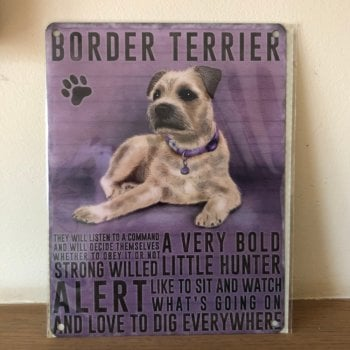 Border Terrier Metal Wall Sign