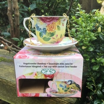 Boxed Cup & Saucer Bird Feeder