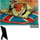 Bulldog Design Ceramic Wall Plaque