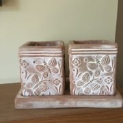 Butterfly Terracotta Herb Planters