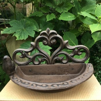 Cast Iron Bird Wall Feeder