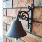 Cast Iron Flower Doorbell
