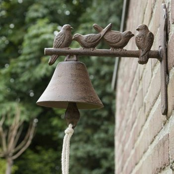 Cast Iron Garden Bird Bell