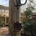 Cast Iron Garden Spade Thermometer