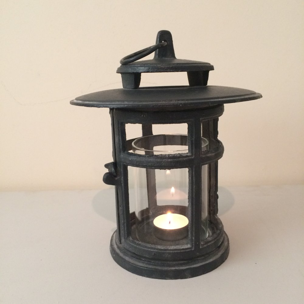 Cast Iron Japanese Style Round Lantern From Ruddick Garden Gifts