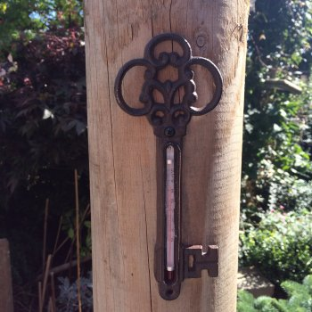 Cast Iron Key Shaped Thermometer