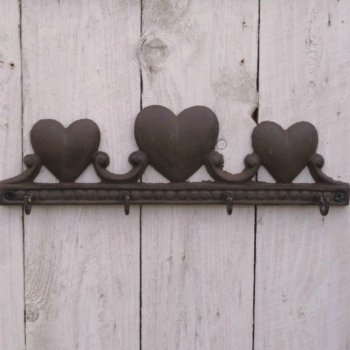 Cast Iron Love Heart Key Hook