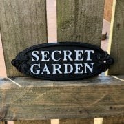 Cast Iron Secret Garden Sign