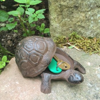 Cast Iron Tortoise Key Keeper