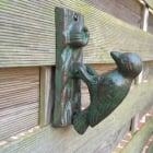 Cast Iron Woodpecker Door Knocker