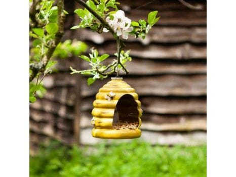 Ceramic Beehive Bird Feeder