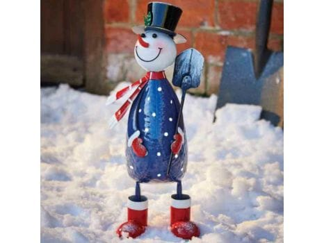 Polka Frosty Snowman Ornament