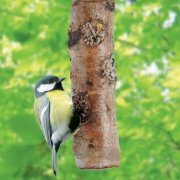 Decorative Bird Feeding Log filled with Seed