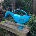 Decorative Blue Duck Watering Can