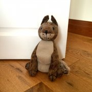 Faux Leather Fox Doorstop