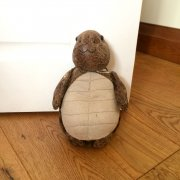 Faux Leather Tortoise Doorstop