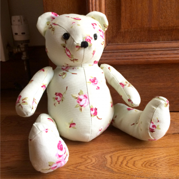 Floral Design Teddy Bear Doorstop