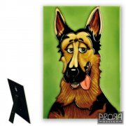German Shepherd Ceramic Plaque