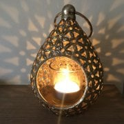 Gold Mini Teardrop Votive Holder