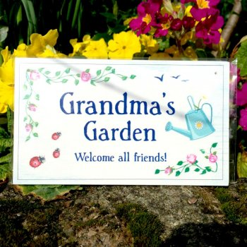 Grandma's Garden Decorative Plaque