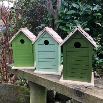 Green Bird Houses
