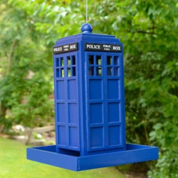 Hand Crafted Police Box Bird Feeder