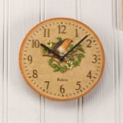 "Hand Painted Robin 8"" Clock"