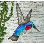 Hummingbird Glass Wall Art
