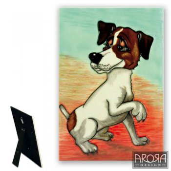 Jack Russell Ceramic Plaque