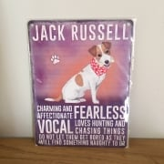 Jack Russell Metal Wall Sign