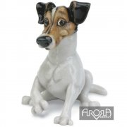 Jack Russell Ornament made from Ceramistone