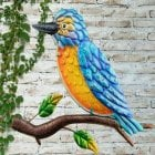 Kingfisher Glass Wall Art