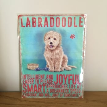 Labradoodle Metal Wall Sign