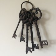 Large Cast Iron Decorative Keys