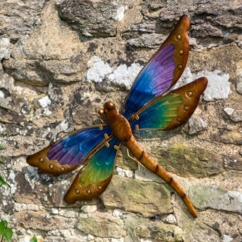 Large Dragonfly Glass Wall Art