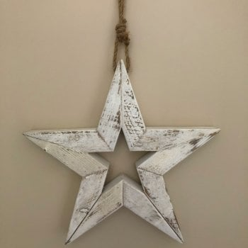 Large Glittery Star Hanging Decoration