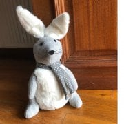 Large Grey Bunny Door Stop