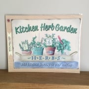 Large Kitchen Herb Metal Wall Sign