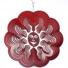Large Red Sun Wind Spinner