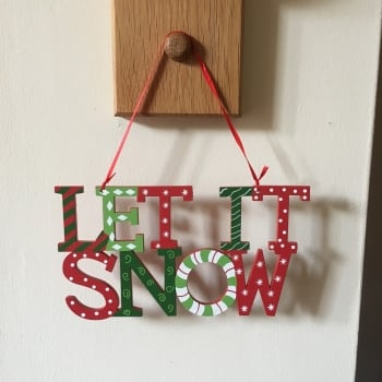 Let It Snow Hanging Christmas Sign