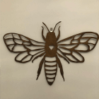 Metal Bee Wall Plaque