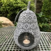Metal Pear Shaped Candle Holder