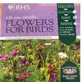 Mr. Fothergill's Seeds RHS Flowers for Birds Boxed Seeds